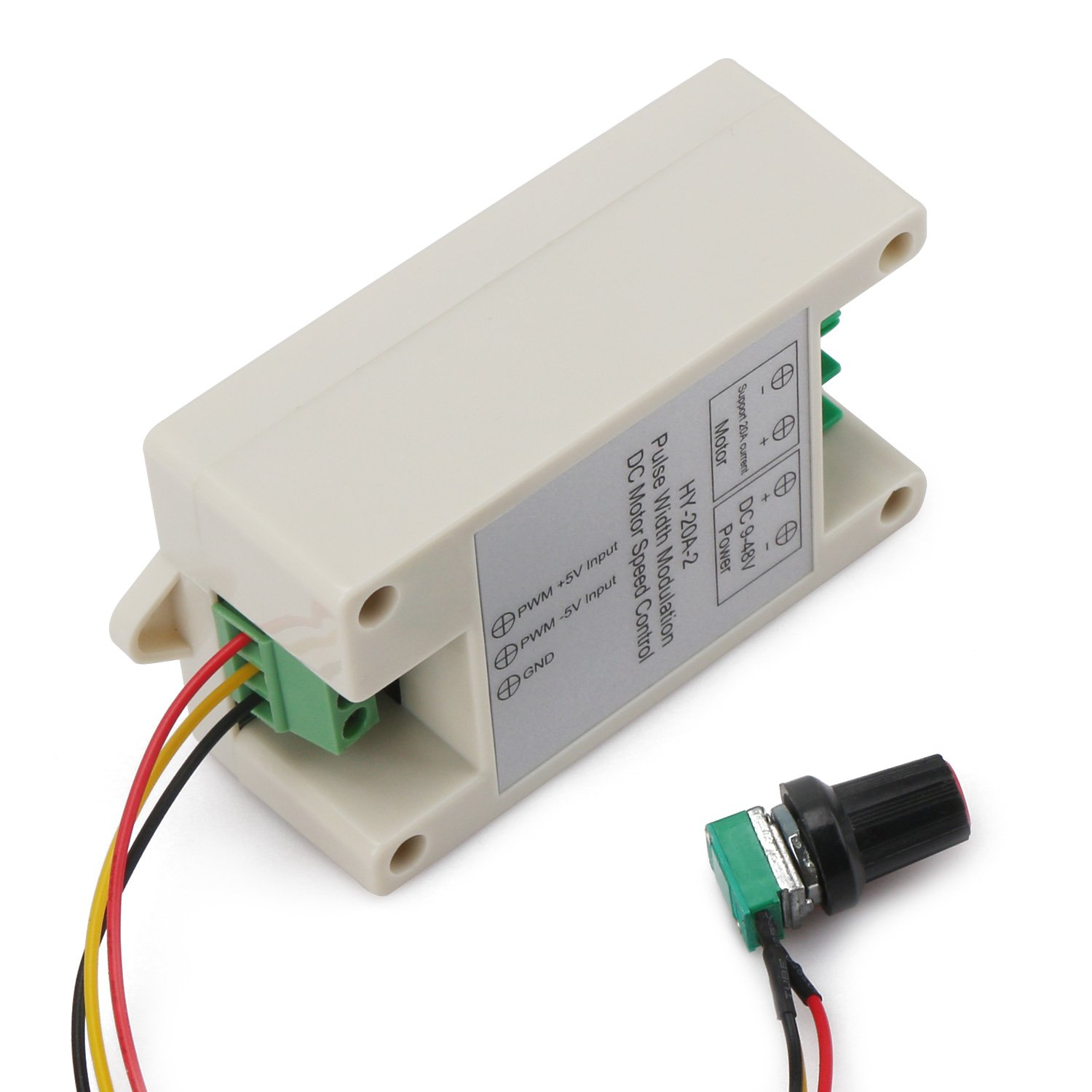 Drok Dc 9 48v 16khz Pwm Electric Motor Speed Controller Small 20a Control Of Using Pulse Width Modulation In This With Sensitive Knob Support 0 5v Frequency Converter Input