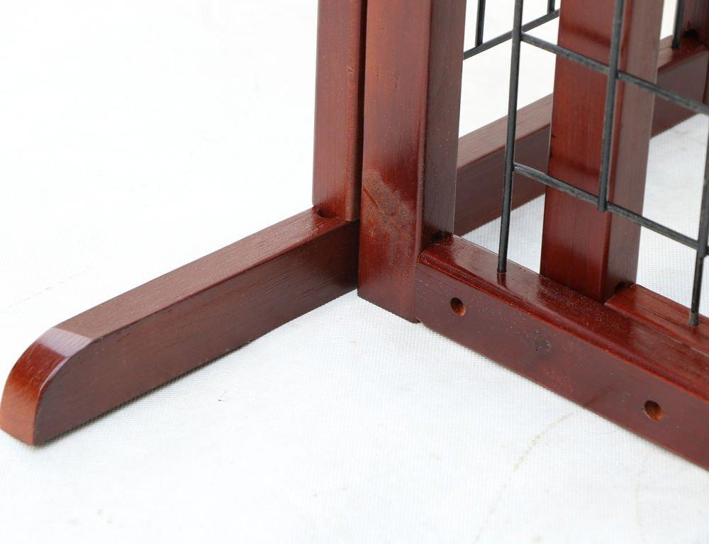 Tek Widget Adjustable Free Standing Indoor Dog Wood Gate/Fence by Tek Widget (Image #5)