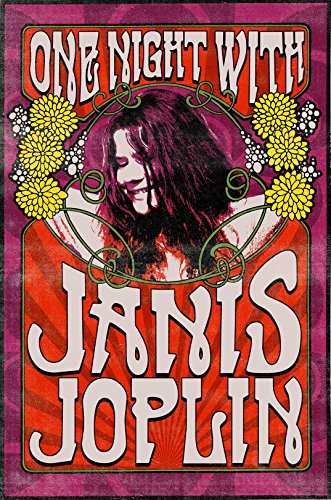 Janis Joplin Iron On Transfer for T-Shirts & Other Light Color Fabrics #1
