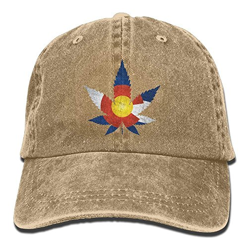 Flag Marijuana Fashion Denim Baseball Adjustable Caps Hats b2beeb1cf1cb