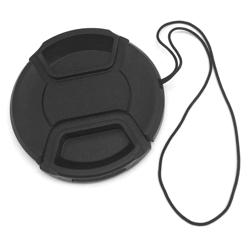 GreceMonday Camera Lens Cap No Word Protezione copriobiettivo per reflex durevole a prova di polvere coprire con Prevenire corda di lancio