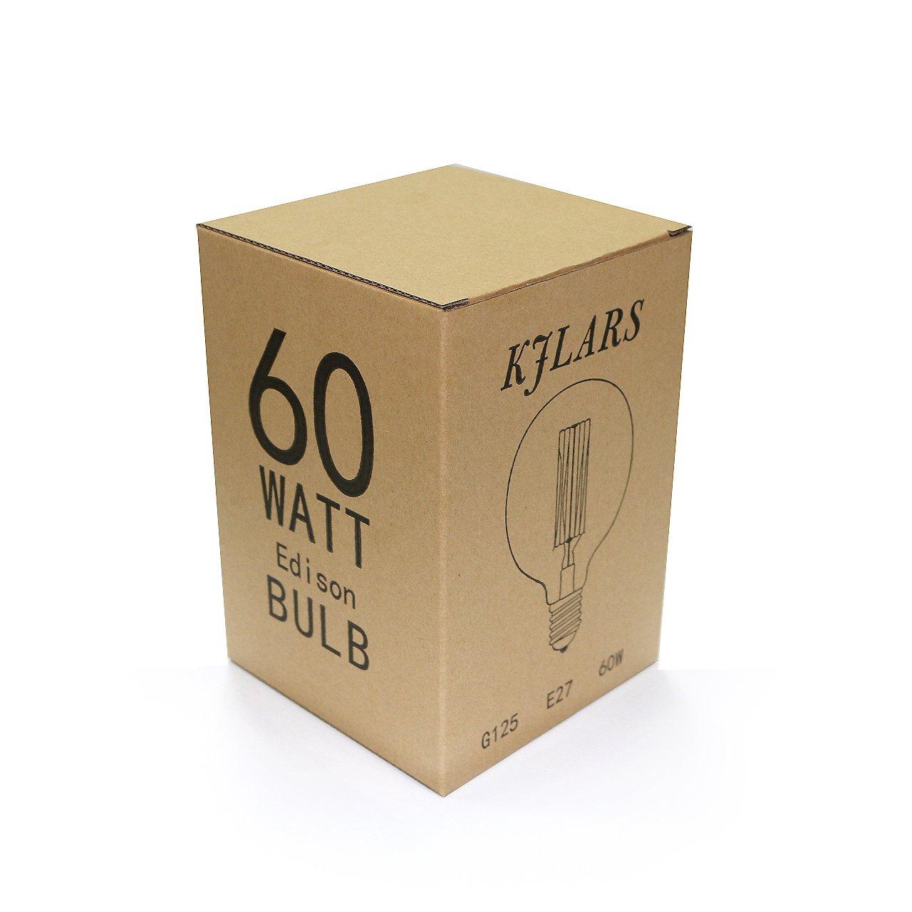 Retro G125 E27 gerader Draht große Glühbirne Edison dekorativen ...