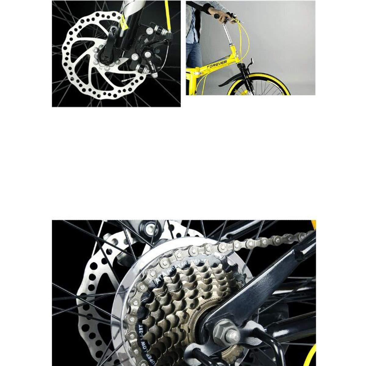 Kehuitong Bicicleta, Bicicleta Plegable, Bicicleta de 7 ...