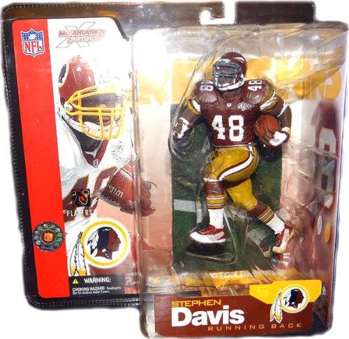 70th Anniversary Series (McFarlane Toys NFL Sports Picks Series 5 Action Figure Stephen Davis (Washington Redskins) Burgundy 70th Anniversary Jersey Variant)