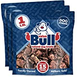 ValueBull USA Roasted Beef Lung Dog Chews, 3 Pounds