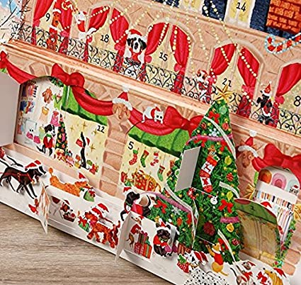 Amazon Com Caspari Christmas Ballet 3d Advent Calendar 1 Each Home Kitchen