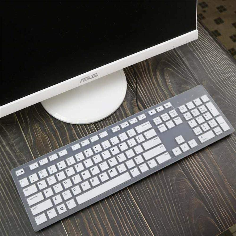 Keyboard Cover for Dell KB216 Keyboard,Dell KM636 Kb216P Kb216T Km636 Wk636 Keyboard.Dell Optiplex 5250/3050/3240/5460/7450/7050,Dell Inspiron AIO 3475/3670/3477all-in one Desktop. (White)