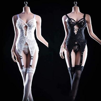 "1//6 Scale Female Lace Cheongsam Underwear Dresses Clothes Set F//12/"" Figure Body"