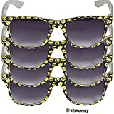 """4E's Novelty Emoji Sunglasses for Kids, & Adults, (4) Pair of Sunglasses - Frame Designed with Popular Emoji Faces, Great for Pool Parties, The Beach, & Birthday, Party Favors """"UV 400 Protection"""