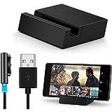 Malloom® pour Sony Xperia Z3 / Z3 Compact Câble USB en métal magnétique Dock Set + Desktop