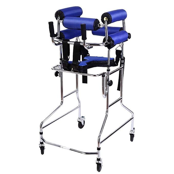 SXTYRL Andador Plegable con 4 Ruedas Diseño de Soporte de ...