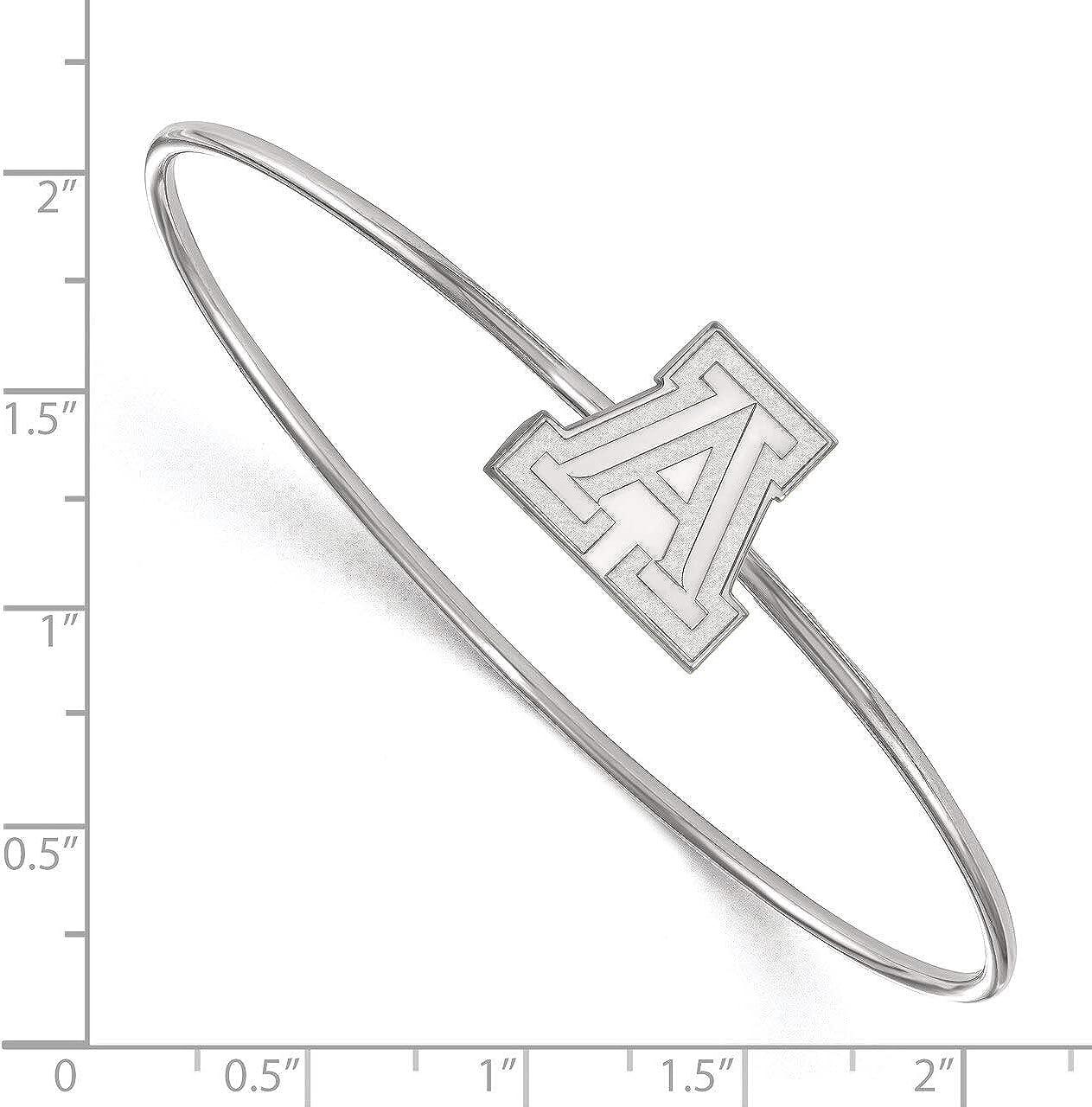 Lex /& Lu LogoArt Sterling Silver University of Arizona Slip-on Bangle LAL147205