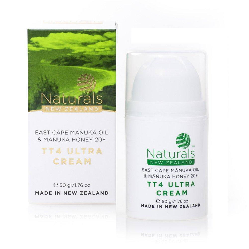 Manuka Honey 20+, Manuka Oil, and Tea Tree Oil TT4 Natural Cream