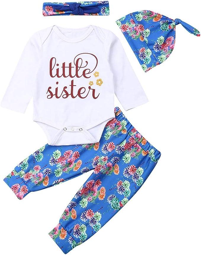 Hosen Set Outfits Kleidung Set Stirnband Trainingsanzug Kleidung Allence Babykleidung Kinder Kleinkind M/ädchen Sommer Baby Bekleidungssets T-Shirt Kleidung Top