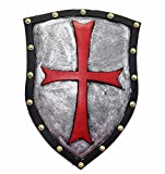 Nice purchase Medieval Knight Crusader Shield Knights Templar Cross Sheild 21 x 14in Home Wall Decoration Party Toy Decor Costume Gifts - PU Rubber Retro Style