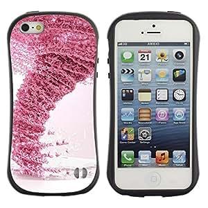 Suave TPU GEL Carcasa Funda Silicona Blando Estuche Caso de protección (para) Apple Iphone 5 / 5S / CECELL Phone case / / Design Pink Tornado /