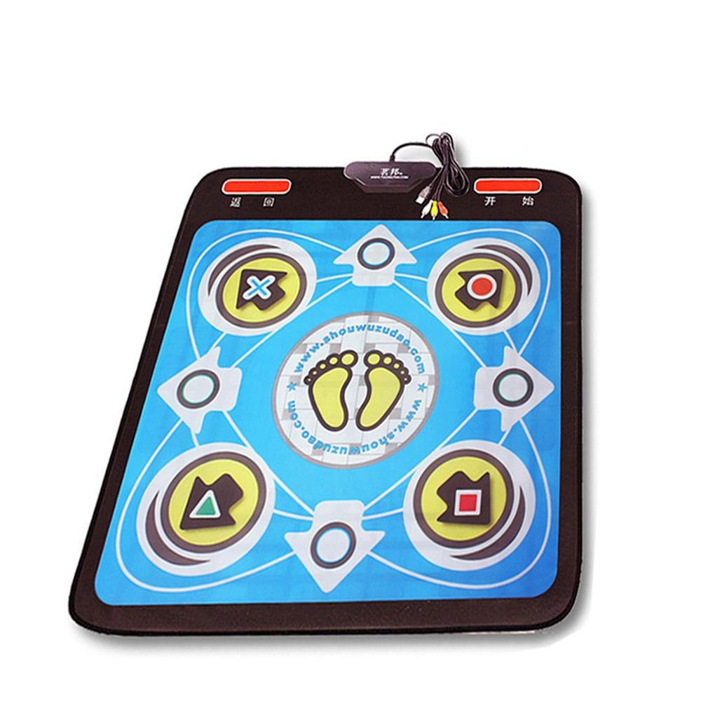Single Dance Pad/Dance Pad wii/Computer / TV Dual Use, Family Weight Loss Dance Carpet Dance/Dance Mat Adult/Child Use, Green