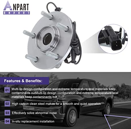 1 PCS ANPART ANPART Replaces 513273 Front 5 Lugs Wheel Axle Bearing and Hub Assembly 2008-2014 for Chrysler Town /& Country 2008-2014 for Dodge Grand Caravan Wheel Hub and Bearing Kit