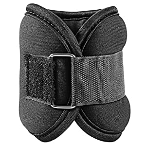 Ankle and Wrist Weights Adjustable, Cheesea Ankle and Wrist Weights 5 Pounds/2 Pounds (2x2.5lb/2x1lb) for Walking (1 Pair, Black))
