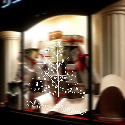 hankyky christmas reindeer snowmensnowflakexmas tree window decals stickers xmas holiday winter wonderland - Christmas Window Decorations Amazon