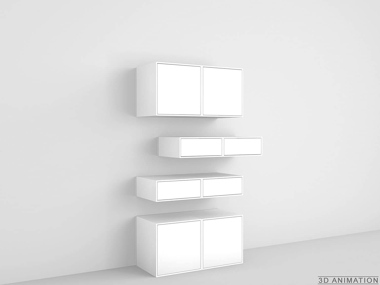 Cubit Design Regal Stylische Wandregal Geschlossen Amazon De