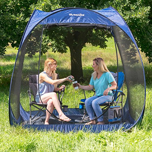 Fuss Free Set Up Anywhere Roomy TOUGH UV-Treated Polyester Fabric And Netting Viva Active 7.5' Pop Up Screen Room with Floor Lets You Spend More Time Outdoors Insect Free (Patio Mosquito Screens For)