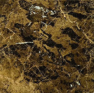 "Emser Tile ""Emperador Dark"" Polished Marble Tile, 12"" x 12"", Marrone"