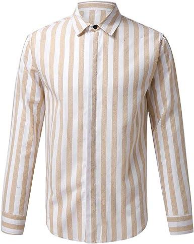 Internet—Camisa de Manga Larga con Estampado de Rayas ...