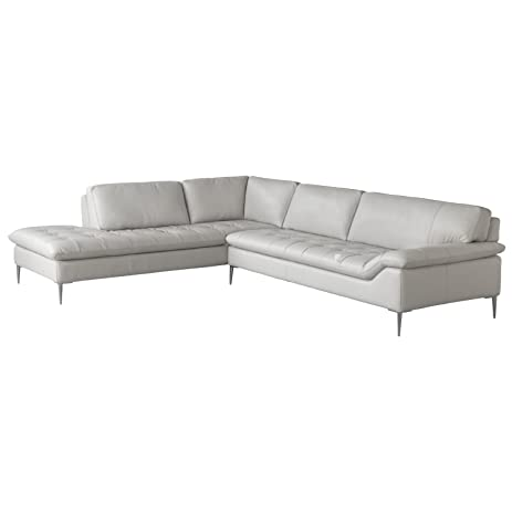 Chateau Du0027Ax Italia Living Room Leather Love Seat And Corner Chaise  Sectional White 2