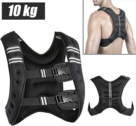 Gewichtweste Trainingsweste 20//50kg Gewichte Weste Laufweste Fitness