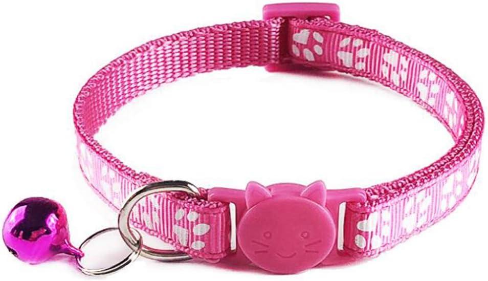 Collar de Seguridad para Gato con Hebilla de liberaci/ón r/ápida y Campana Tafeiya Collar de Gato Ajustable Adecuado para Todos los Gatos dom/ésticos