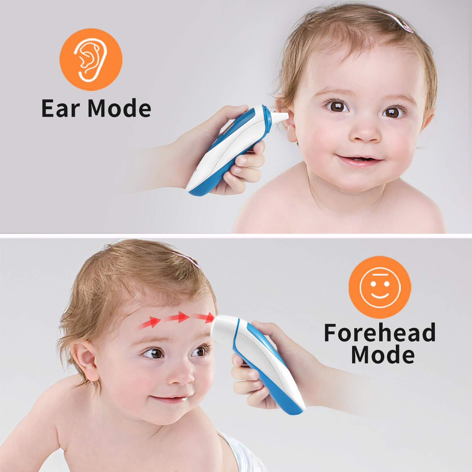 ANKOVO Thermometer For Fever Digital Forehead and Ear Thermometer Medical Infrared for Baby Kids Adults with Fever Indicator by ANKOVO (Image #3)