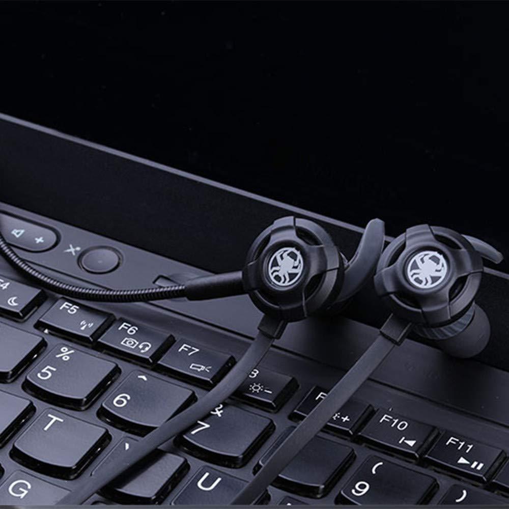 Sencillo Vida Auriculares Gaming Cascos Gaming con Cable y Micrófono In Ear Sonido Estéreo Ergonómico Cancelación de Ruido, Compatible con PS4, Xbox One, ...