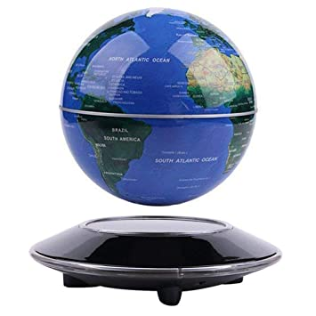 Globo flotante de levitación magnética Mapa mundial rotativo - Globo antigravedad para regalo educativo - Oficina