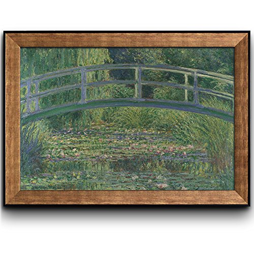The Water Lily Pond by Claude Monet (No Signature) Framed Art