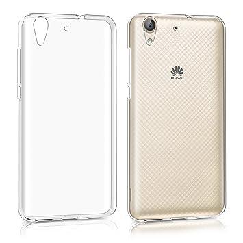 kwmobile Funda para Huawei Y6 II - Carcasa Protectora de [TPU] para móvil - Cover [Trasero] en [Transparente]