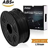 SUNLU ABSプラス3Dプリンターフィラメント、ABSフィラメント1.75 mm、3D印刷フィラメント3Dプリンターと3Dペン用の低臭気寸法精度+/- 0.02 mm、2.2 LBS(1KG)スプール3Dフィラメント、ブラックABS +
