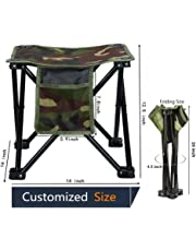 LUCKY CUP Folding Stool Fishing Stool Portable Camping Stool with Carry Bag for Travel Hiking Gardening Picnic Beach BBQ Large Size 12.5 inches
