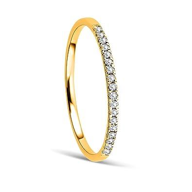 b244716e16cd Orovi Anillo Señora compromiso aniversario en Oro Amarillo con Diamantes  Talla Brillante 0.08 ct Oro 9 Kt   375  Amazon.es  Joyería