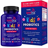 LoveBug Probiotics Kids Probiotic Chewable - Digestive + Immune Support Probiotic Supplement for Kids, with Prebiotic - 30 Naturally Flavored Berry Chewable Tablets - Vegan, Non-GMO (30)