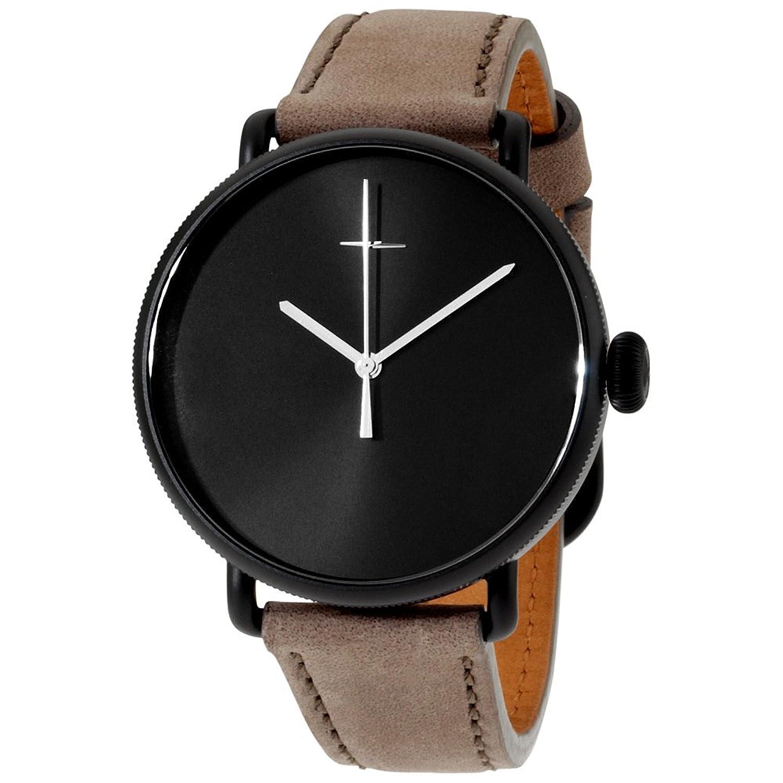 Shinola The Canfieldボルトブラックダイヤルレザーストラップメンズ腕時計20052578 B01N264JNS