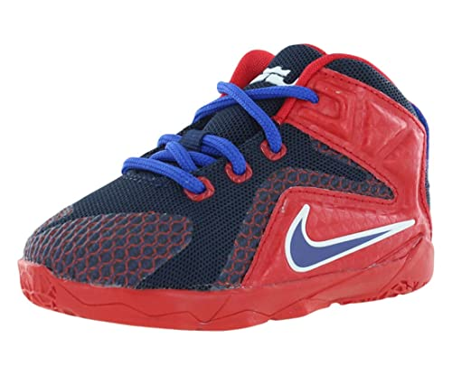 063ce228ad8 Nike Lebron VII  quot Supes quot  Toddler Kids Boys Shoe University  Red Midnight Navy