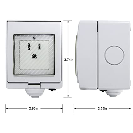 Outdoor Smart Plug Switch,WiFi IP55 Waterproof Socket Outlet Compatible  with Alexa Google Home,Wireless Plug-In Lighting On/Off,Timing/Timer