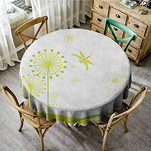 Rank-T Round Tablecloth Black Floral 70