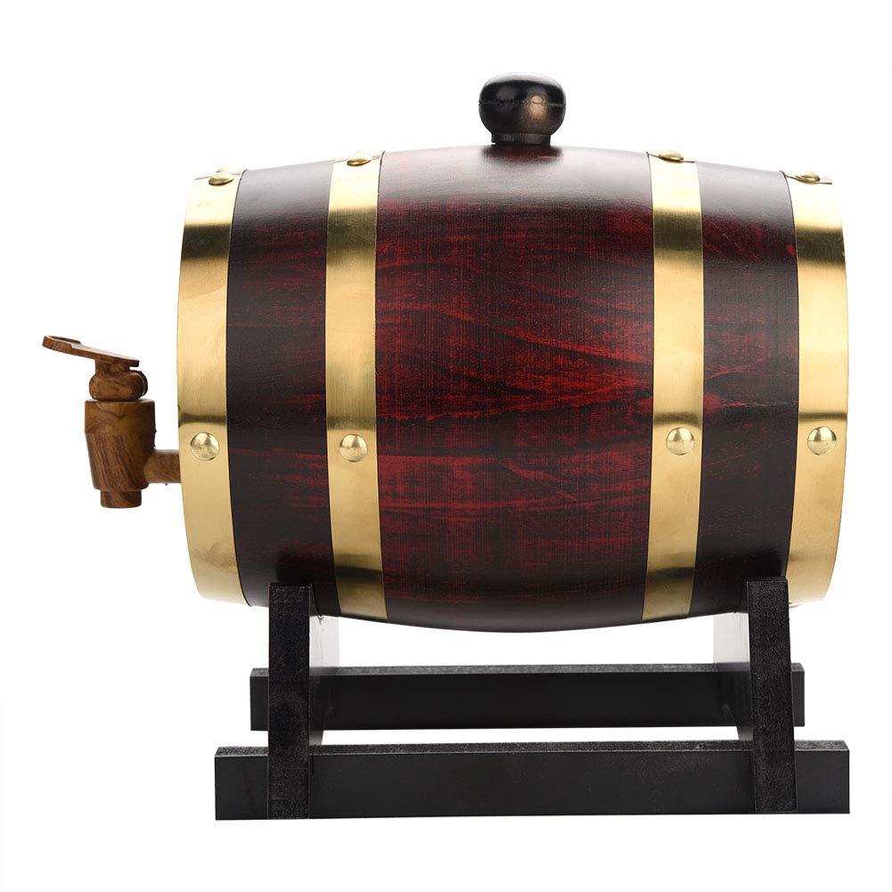 1.5L Oak Barrel, Whiskey Wood Oak Barrel Dispenser Pressure Tested for Leaks Storage for Whiskey, Brandy, Tequila, Rum Port by Zerone (Image #2)