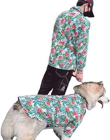 ZDJR Camisa para Perro, Flor Hawaiana para Perros, piña, Estilo de Centro turístico Junto al mar, para Perros pequeños, Razas, Gatos, Perro Grande, Alaska Hatch,Parents/M: Amazon.es: Hogar