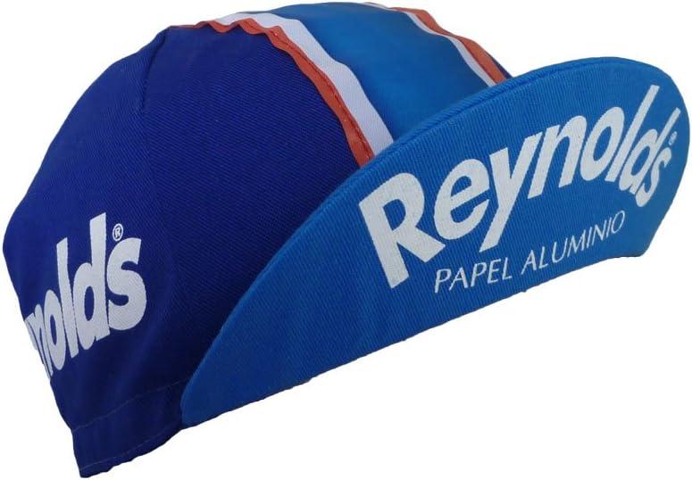 Apis Reynolds - Gorra para Bicicleta, diseño Retro, Color Azul ...