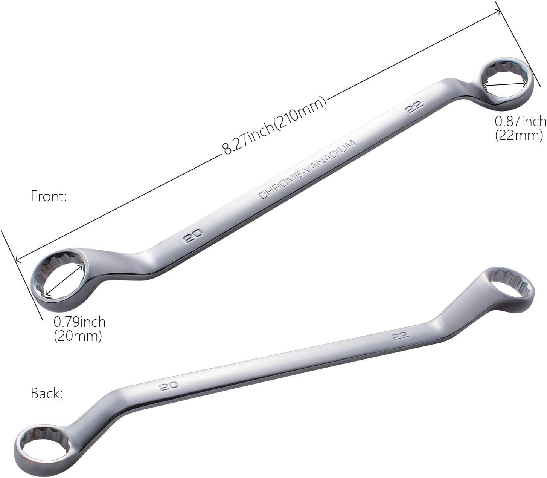 Convy GJ-0022 Double Offset Box End Wrench Chrome Vanadium Steel Metric 14mm-15mm