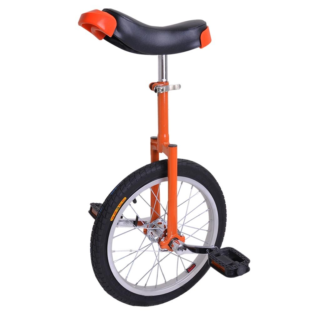 AW 16'' Inch Wheel Unicycle Leakproof Butyl Tire Wheel Cycling Outdoor Sports Fitness Exercise Health Orange