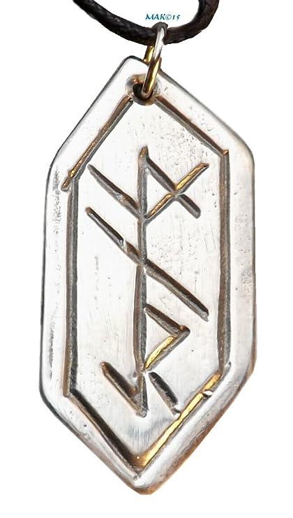 Amazon Protection Rune Pewter Pendant Nordic Norse Jewelry